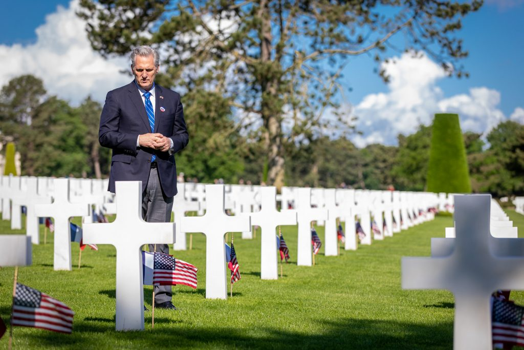 Kevin McCarthy in Normandy France