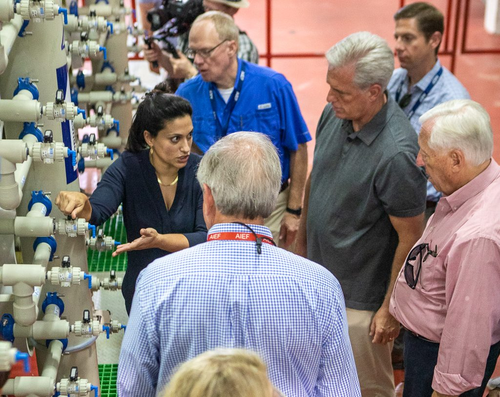 Kevin McCarthy at a desalination facility in Israel