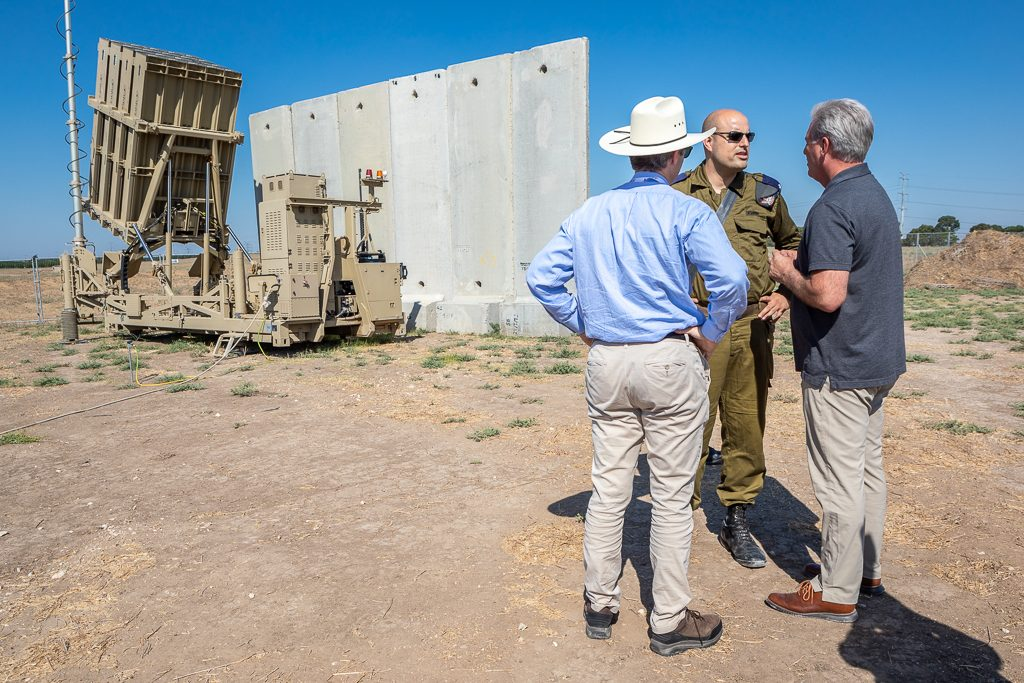 Kevin McCarthy at the Iron Dome in Israel