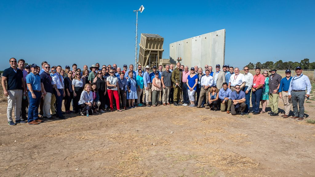 A large, bipartisan group of Members of Congress visit Israel to show unity for the US-Israel relationship