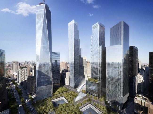 The new World Trade Center complex in New York